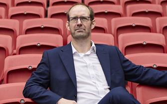 Man in stadium