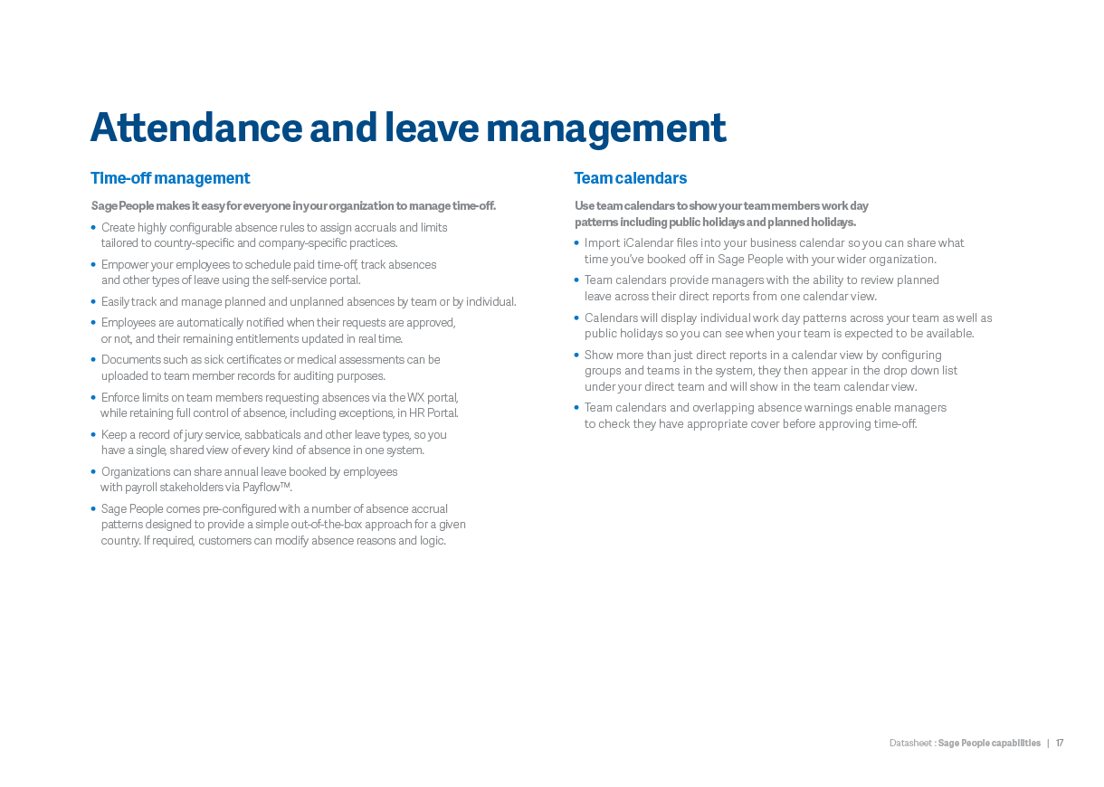 Attendance and leave management