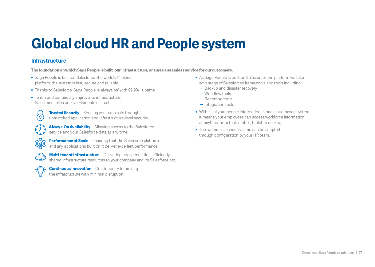 Global cloud HR and People system